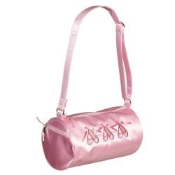 SB 8699 / Pink Satin Barrel Bag